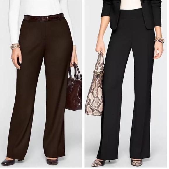7ae29a1cc2c Talbots heritage wide leg brown dress pants